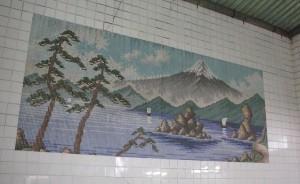 銭湯の富士山